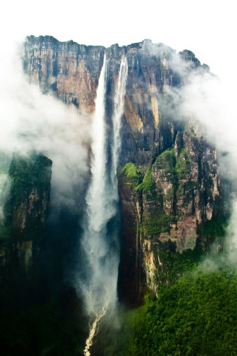 Angel Falls, Venezuela. The tallest waterfall in the world is located within the Orinoco river basin. Photo: Creative Commons