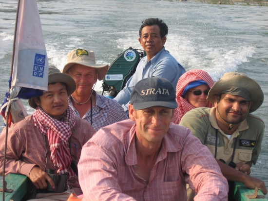 Will on a biodiversity survey on the Mekong - a river where the fish are only really seen by fishermen as the waters are so turbid.