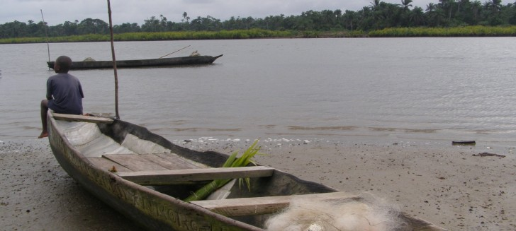 Fishing boats on the Niger River Delta. Photo: Living Earth.