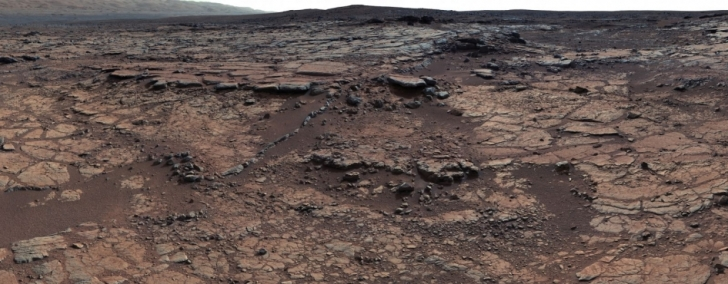 Yellowknife Bay in the Gale Crater on Mars, where evidence of an ancient freshwater lake has been found.  Image: NASA/JPL-Caltech/ASU