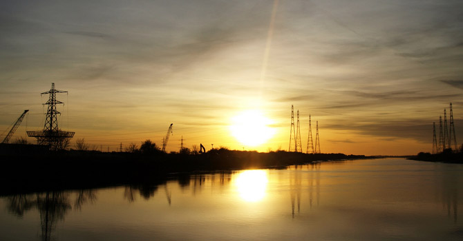 Industrial River Ribble, Lancashire. Image: Blog Preston