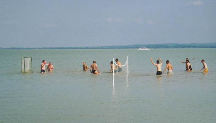 Water Polo in Lake Balaton, Hungry at the Shallow Lakes conference 2002.  Image: L Carvalho.