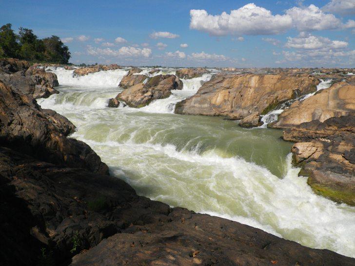 Khone Falls on the Mekong River
