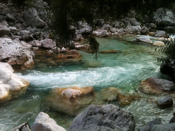 The Soca River in western Slovenia