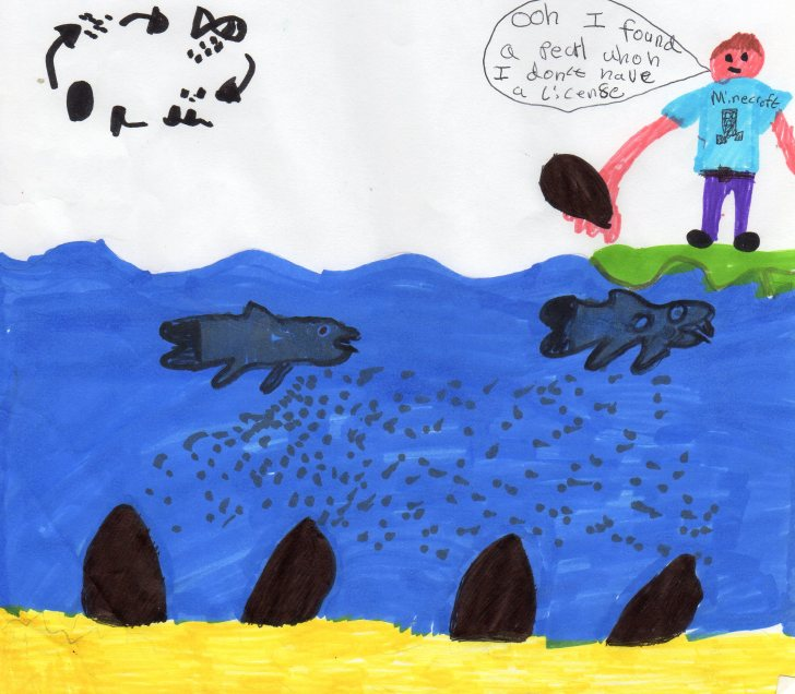 Poster made by schoolchildren as part of the Pearls in the Classroom project.  Image: Ness and Beauly Fisheries Trust