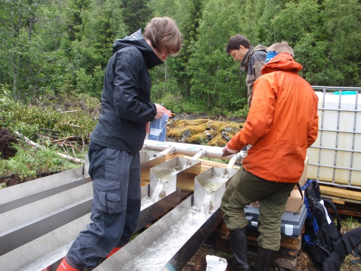 Building the flumes.  Image: Susi Schneider