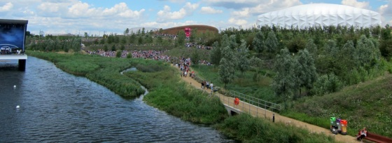 The Olympic Park on the River Lea in East London, one of the projects study sites.  Image: Hydrocitizenship