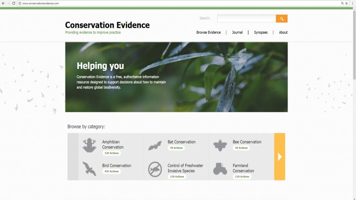 conservation-evidence-website