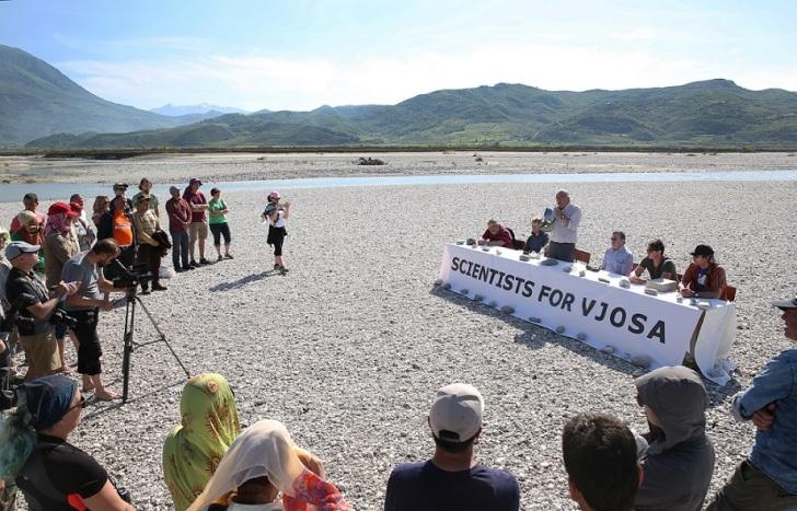 Vjosa press conference