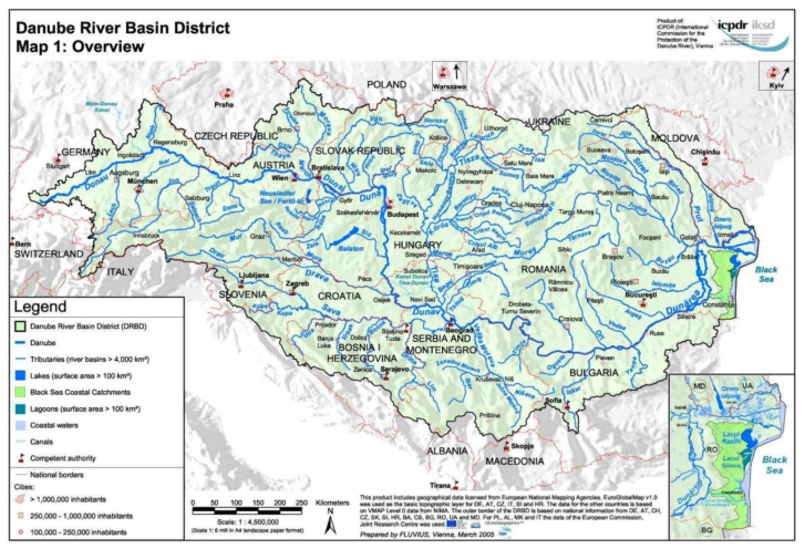Danube River Basin District Map